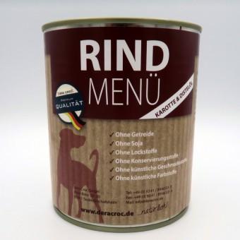 DERA CROC RIND Premium Menü (800g Dose) mit Karotte & Distelöl