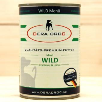 DERA CROC WILD Premium Menü mit Cranberry & Leinöl