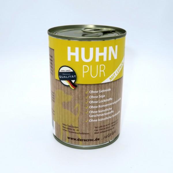 DERA CROC Menü Premium HUHN mit Leinöl (400g Dose)
